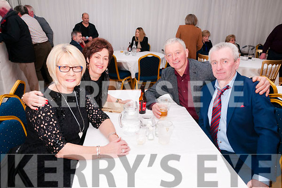 Finuge GAA Club Dinner Dance: Attending the Finuge GAA Club dinner dance in the marquee on saturday night last were Bridie O'Sullivan, Noreen Brosnan, Dinny O'Sullivan & DJ Brosnan.