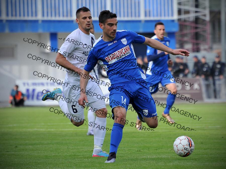 Fudbal Super liga season 2015-2016<br /> Novi Pazar v Rad<br /> Vojo Ubiparip (D) i Zoran Ljubinkovic (L)<br /> Novi Pazar, 28. 4. 2016<br /> foto: Emir Sadovic/Starsportphoto &copy;