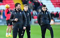 Lincoln City manager Danny Cowley during the pre-match warm-up<br /> <br /> Photographer Andrew Vaughan/CameraSport<br /> <br /> The EFL Sky Bet League Two - Lincoln City v Port Vale - Tuesday 1st January 2019 - Sincil Bank - Lincoln<br /> <br /> World Copyright &copy; 2019 CameraSport. All rights reserved. 43 Linden Ave. Countesthorpe. Leicester. England. LE8 5PG - Tel: +44 (0) 116 277 4147 - admin@camerasport.com - www.camerasport.com
