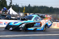 Aug. 3, 2014; Kent, WA, USA; NHRA funny car driver Jeff Diehl during the Northwest Nationals at Pacific Raceways. Mandatory Credit: Mark J. Rebilas-
