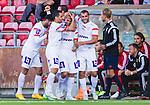 S&ouml;dert&auml;lje 2015-08-01 Fotboll Superettan Assyriska FF - &Ouml;stersunds FK :  <br /> Assyriskas Fredrik Holster firar sitt 2-0 m&aring;l med Mattias Genc , David Durmaz och lagkamrater under matchen mellan Assyriska FF och &Ouml;stersunds FK <br /> (Foto: Kenta J&ouml;nsson) Nyckelord:  Assyriska AFF S&ouml;dert&auml;lje Fotbollsarena Superettan &Ouml;stersund &Ouml;FK jubel gl&auml;dje lycka glad happy