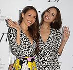 Jessica Michibata, Angelica Michibata,Mar 20 2014 : Jessica and Angelica Michibata attend a photocall after Diane von Furstenberg fashion show Shibuya Hikarie Tokyo Jpan on 20 Mar 2014. (Photo by Motoo Naka/AFLO)