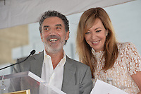 LOS ANGELES, CA. October 17, 2016: Chuck Lorre &amp; Allison Janney at the Hollywood Walk of Fame Star ceremony honoring actress Allison Janney.<br /> Picture: Paul Smith/Featureflash/SilverHub 0208 004 5359/ 07711 972644 Editors@silverhubmedia.com