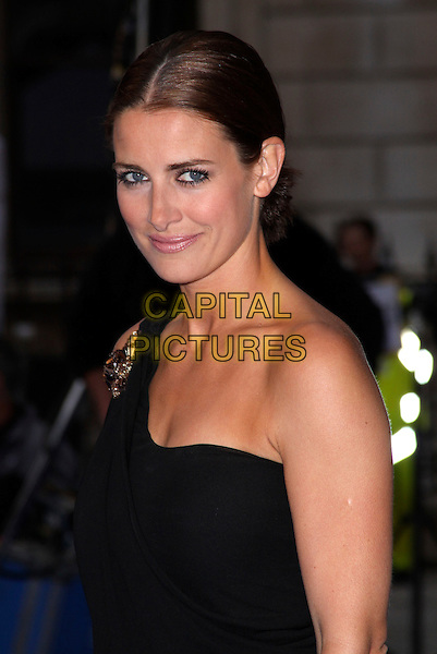 KIRSTY GALLACHER .Royal Academy of Arts Summer Exhibition Preview Party at the Royal Academy, Piccadilly, London, England. June 3rd, 2009..half length black one shoulder hair up brooch embellished bronzer .CAP/AH.©Adam Houghton/Capital Pictures