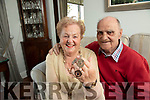Geraldine and Paddy Sayers, Curraheen who have made a bracelet of Paddys football medals.