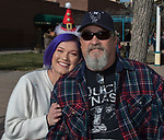Amber and Karl Baker during the Sparks Hometowne Christmas Parade held on Saturday, December 2, 2017.