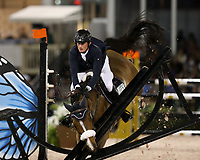 WELLINGTION, FL - FEBRUARY 09: SATURDAY NIGHT LIGHTS: Darragh Kenny participates in Class 101 - FEI CSI5* $391,000 Fidelity Investments Grand Prix where the winner was Martin Fuchs (Swiss) second place was Kent Farrington (USA) and third was Conor Swail (IRE). The Winter Equestrian Festival (WEF) is the largest, longest running hunter/jumper equestrian event in the world held at the Palm Beach International Equestrian Center on February 09, 2019  in Wellington, Florida.<br /> People:  Darragh Kenny <br /> CAP/MPI122<br /> &copy;MPI122/Capital Pictures