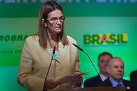 RIO DE JANEIRO, RJ, 13 DE FEVEREIRO DE 2012 - Cerimônia de Posse da nova Presidente da Petrobrás  - A nova Presidente da Petrobras, Graça Foster, discursa na cerimônia de tomada de posse, na sede da Petrobras. FOTO GLAICON EMRICH - NEWS FRE