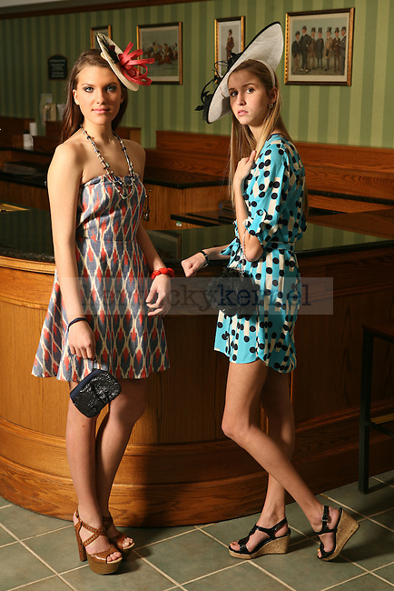 Spring fashion shoot at Keeneland in Lexington, Ky., on Tuesday, March 6, 2012. Photo by Tessa Lighty | Staff