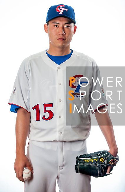 Lin, Yu-Ching of Team Chinese Taipei poses during WBC Photo Day on February 25, 2013 in Taichung, Taiwan. Photo by Victor Fraile / The Power of Sport Images