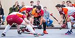 DELFT - Benjamin Stanzl (Oranje-Rood)   tijdens de zaalhockey hoofdklasse competitiewedstrijd Oranje Rood-Almere . COPYRIGHT KOEN SUYK