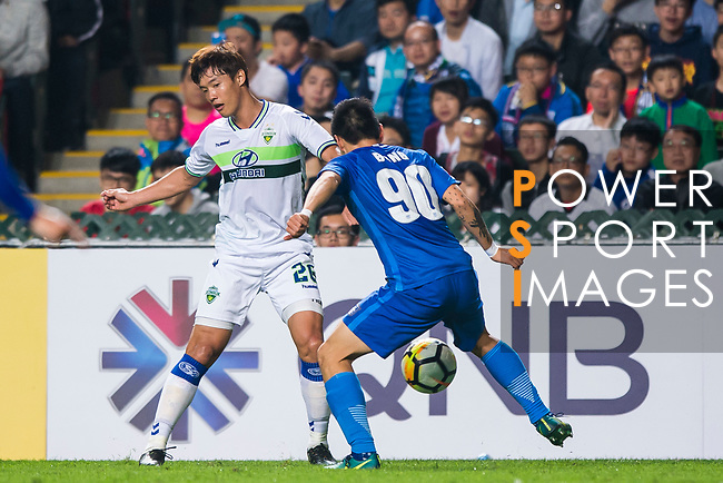 Kitchee SC (HKG) vs Jeonbuk Hyundai Motors FC (KOR) during the AFC Champions League 2018 Group E match at Hong Kong Stadium on 20 February 2018, in Hong Kong, Hong Kong. Photo by Chung Yan Man / Power Sport Images