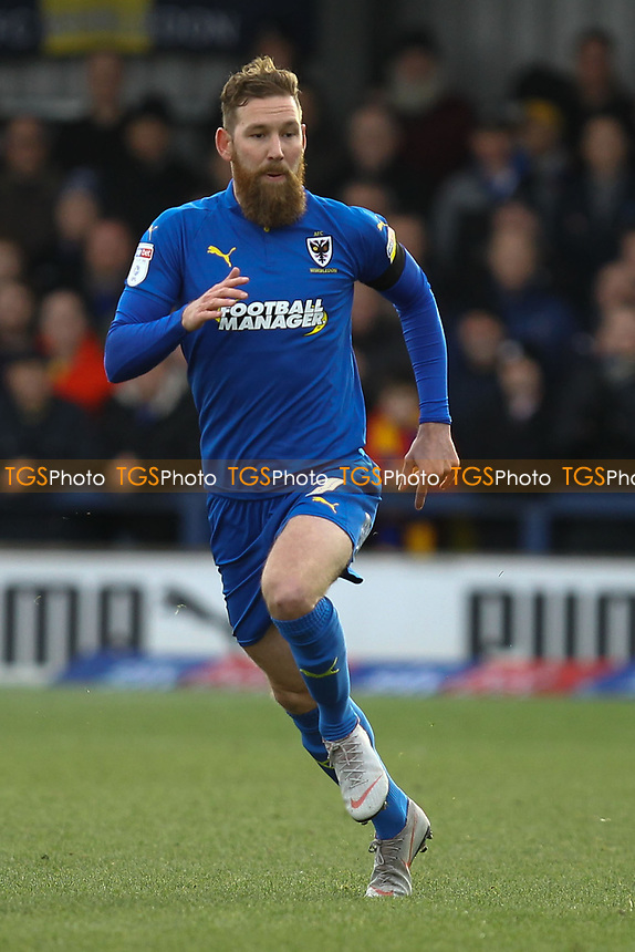 Scott Wagstaff of AFC Wimbledon during AFC Wimbledon vs Burton Albion, Sky Bet EFL League 1 Football at the Cherry Red Records Stadium on 9th February 2019