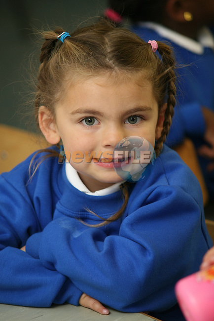Mell NS 1st Day of School 2009..Photo NEWSFILE/Jenny Matthews.(Photo credit should read Jenny Matthews/NEWSFILE)....This Picture has been sent you under the condtions enclosed by:.Newsfile Ltd..The Studio,.Millmount Abbey,.Drogheda,.Co Meath..Ireland..Tel: +353(0)41-9871240.Fax: +353(0)41-9871260.GSM: +353(0)86-2500958.email: pictures@newsfile.ie.www.newsfile.ie.FTP: 193.120.102.198.