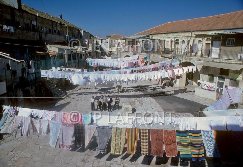 Jerusalem, Israel, November, 1980. Mea Shearim, Jewish Orthodox area.