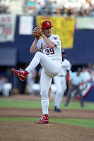 St. Louis Cardinals pitcher Bob Tewksbury (39) during the Major League Baseball All-Star Game at Jack Murphy Stadium  in San Diego, California.  (MJA/Four Seam Images)