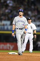 Toronto Blue Jays outfielder Colby Rasmus (28) during a game against the Chicago White Sox on August 15, 2014 at U.S. Cellular Field in Chicago, Illinois.  Chicago defeated Toronto 11-5.  (Mike Janes/Four Seam Images)