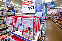STAFF PHOTO BEN GOFF  @NWABenGoff -- 12/16/14<br /> Make Your Case kits for making custom iPhone/iPod touch cases sit on display in the toy department at the Walmart Supercenter on Pleasant Crossing Boulevard in Rogers on Tuesday Dec. 16, 2014. The kits are one of the top 20 toys picked by children through Walmart's Chosen by Kids program.