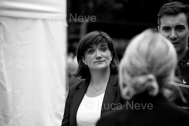 """Nicky Morgan (British Conservative Party politician, Secretary of State for Education and Minister for Women and Equalities).<br /> <br /> 24.06.2016 - """"Faces From College Green (Part 2), Parliament Sq, WhiteHall"""".<br /> <br /> London, March-July 2016. Reporting the EU Referendum 2016 (Campaign, result and outcomes) observed through the eyes (and the lenses) of an Italian freelance photojournalist (UK and IFJ Press Cards holder) based in the British Capital with no """"press accreditation"""" and no timetable of the main political parties' events in support of the RemaIN Campaign or the Leave the EU Campaign.<br /> On the 23rd of June 2016 the British people voted in the EU Referendum... (Please find the caption on PDF at the beginning of the Reportage).<br /> <br /> For more photos and information about this event please click here: http://lucaneve.photoshelter.com/gallery/Faces-From-College-Green-Part-2-Parliament-Sq-WhiteHall/G0000EdpxLbG0I3k/C0000LiS.GOfEuNk<br /> <br /> For more information about the result please click here: http://www.bbc.co.uk/news/politics/eu_referendum/results"""