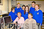 Students from Castleisland Community College who are teaching senior citizens how to use computers seated Mary Howard, Peggy Reidy back row l-r: Tara Daly, Robbie O'Connor, Geunhye Kim, Hubert Kloskowski and Eleanor McRae