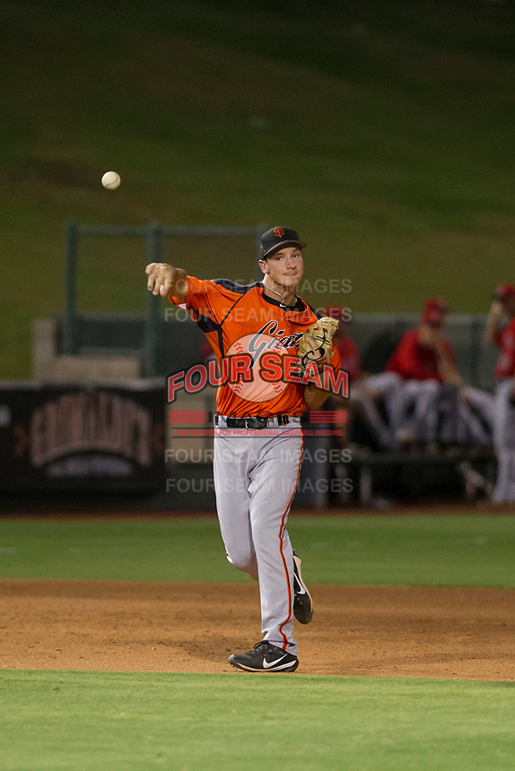 AZL Giants third baseman Jacob Gonzalez (52) on defense during a game against the AZL Angels on July 9, 2017 at Diablo Stadium in Tempe, Arizona. AZL Giants defeated the AZL Angels 8-4. (Zachary Lucy/Four Seam Images)
