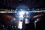 "Sunday, June 24, Raleigh, North Carolina..California evangelist Greg Laurie, brought his ""Harvest Crusade"" to the RBC Center in Raleigh, NC for 3 days of music. prayer and Christian evangelism. Laurie brought together 200 local churches to sponsor the event which used 3000 volunteers and hopes to convert many newcomers to his version of born again Christianity.. Believers danced and prayed to the hour and a half long music program that preceded Laurie's sermon."