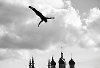 DE ROSE Alessandro ITA<br /> High Diving - Men's 27m high dive preliminaries<br /> Day 11 03/08/2015<br /> XVI FINA World Championships Aquatics Swimming<br /> Kazan Tatarstan RUS July 24 - Aug. 9 2015 <br /> Photo Giorgio Perottino