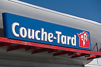 A Couche-Tard logo is seen on a Quebec City location February 24, 2009. Alimentation Couche-Tard Inc. (TSX: ATD.A) is the largest Canadian convenience store retailer, with over 5000 stores. It operates primarily as Couche-Tard in Quebec, Mac's in Ontario and western Canada, and Circle K in Atlantic Canada, the U.S