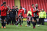 Sheffield United players thank the fans after the Championship league match at Bramall Lane Stadium, Sheffield. Picture date 28th April, 2018. Picture credit should read: Harry Marshall/Sportimage