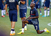 PORTLAND, Ore. - July 9, 2013: DaMarcus Beasley warms up before the matchThe US Men's National team plays the National team of Belize during the 2013 Gold Cup at at JELD-WEN Field.