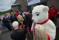 NWA Democrat-Gazette/J.T. WAMPLER Bubbles the Coca Cola mascot entertains guests Monday Sept. 10, 2018 during the grand opening of a new Coca Cola distribution center in Lowell. The new facility created 144 jobs and is owned by the Ozarks Coca-Cola/Dr. Pepper Bottling Company that distributes to parts of Missouri and Kansas as well as Northwest Arkansas.