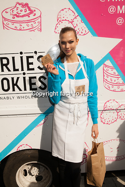 NEW YORK, NY - FEBRUARY 13: Supermodel Karlie Kloss and momofuku milk bar collaborate on a fashionably wholesome cookie line called karlie's kookies. Lincoln Center, February 13, 2013 in New York City..Credit: MediaPunch/face to face..- Germany, Austria, Switzerland, Eastern Europe, Australia, UK, USA, Taiwan, Singapore, China, Malaysia and Thailand rights only -
