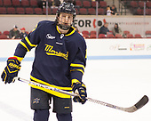 Logan Coomes (Merrimack - 17) - The visiting Merrimack College Warriors defeated the Boston University Terriers 4-1 to complete a regular season sweep on Friday, January 27, 2017, at Agganis Arena in Boston, Massachusetts.The visiting Merrimack College Warriors defeated the Boston University Terriers 4-1 to complete a regular season sweep on Friday, January 27, 2017, at Agganis Arena in Boston, Massachusetts.