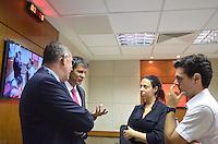 SAO PAULO, 20 DE FEVEREIRO DE 2013. - HADDAD CBN - O Prefeito Fernando Haddad em entrevista a radio CBN,  na manha desta quinta feira, 21, regiao central da capital. (FOTO: ALEXANDRE MOREIRA / BRAZIL PHOTO PRESS)