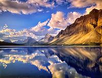 Bow Lake reflection. Banff National Park, Canada