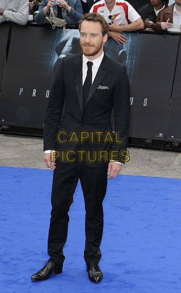 Michael Fassbender.'Prometheus' world film premiere, Empire cinema, Leicester Square, London, England..31st May 2012.full length black suit beard facial hair.CAP/CAN.©Can Nguyen/Capital Pictures.
