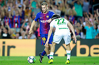 FC Barcelona's Gerard Deulofeu (l) and Chapecoense's Luis Apodi\ during Joan Gamper Trophy. August 7,2017. (ALTERPHOTOS/Acero) /NortePhoto.com