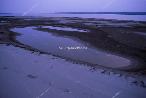 Blue Lakes off the Amazon; Peru