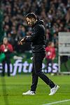 08.03.2019, Weserstadion, Bremen, GER, 1.FBL, Werder Bremen vs FC Schalke 04<br /> <br /> DFL REGULATIONS PROHIBIT ANY USE OF PHOTOGRAPHS AS IMAGE SEQUENCES AND/OR QUASI-VIDEO.<br /> <br /> im Bild / picture shows<br /> Domenico Tedesco (Trainer FC Schalke 04) entt&auml;uscht nach Spielende in Coachingzone / an Seitenlinie, Tedesco schaut auf die Uhr, <br /> <br /> Foto &copy; nordphoto / Ewert