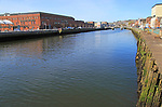 Buildings on River Lee, Dunnes Stores shopping centre, City of Cork, County Cork, Ireland, Irish Republic