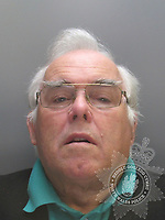 Pictured: Police custody picture of Eric Wyn Jones<br /> Re: The owner of a bus firm and his three sons were jailed by Mold Crown Court for fraudulently claiming tens of thousands of pounds for bus journeys which were never made.<br /> Express Motors owner Eric Wyn Jones and his sons Ian Wyn Jones, Keith Jones and Kevin Wyn Jones, claimed more than £88,000 from Gwynedd council for fake journeys using bus passes for the over 60s.<br /> All four had denied charges of fraud.<br /> Eric Wyn Jones, 77, was jailed for seven and a half years.<br /> Ian Wyn Jones, 53, was also sentenced to seven and a half years in prison, Kevin Wyn Jones, 54, was given seven years and Keith Jones, 51, was given six years.<br /> The men were also found guilty of putting more than £500,000 in cash through their own bank accounts without paying tax.<br /> Ian Wyn Jones admitted an additional charge of possessing £840 worth of counterfeit currency.
