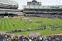 National Anthem. San Jose Earthquakes 0, Chicago Fire 1. McAfee Coliseum, Oakland, California. Saturday, April 12, 2008.