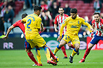 Pedro Tanausu Dominguez Placeres, Tana (R), of UD Las Palmas fights for the ball with Jorge Resurreccion Merodio, Koke, of Atletico de Madrid during the La Liga 2017-18 match between Atletico de Madrid and UD Las Palmas at Wanda Metropolitano on January 28 2018 in Madrid, Spain. Photo by Diego Souto / Power Sport Images