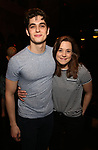 "Kyle Selig and Erika Henningsen during the Actors' Equity Opening Night Gypsy Robe Ceremony honoring Brendon Stimson for ""Mean Girls"" at the August Wilson Theatre Theatre on April 8, 2018 in New York City."
