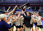 KENOSHA, WI - APRIL 28:  The Springfield College Men's Volleyball team celebrates their National Championship at the Division III Men's Volleyball Championship held at the Tarble Athletic and Recreation Center on April 28, 2018 in Kenosha, Wisconsin. (Photo by Steve Woltmann/NCAA Photos via Getty Images)