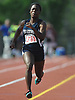 Joelle Wright, New Hyde Park senior, sprints to victory in the girls 100 meter dash during the Nassau County AA track and field championships at Glen Cove High School on Thursday, May 26, 2016. She won with a time of 12.85.