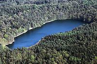 Krebssee, Luftaufnahme, Luftbild, Lauenburgische Seenplatte, bei Mölln, Herzogtum Lauenburg, Schleswig-Holstein, Norddeutschland, Deutschland