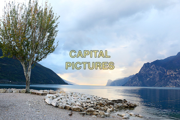 LAGO DI GARDA, ITALY - Mountains are the backdrop for this image of Lake Garda around Torbole on 17 October 2015 in Lago di Garda, Italy<br /> <br /> CAP/ROS<br /> &copy;ROS/Capital Pictures