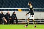***BETALBILD***  <br /> Stockholm 2015-07-30 Fotboll Kval Uefa Europa League  AIK - Atromitos FC :  <br /> AIK:s Noah Sonko Sundberg deppar n&auml;r han g&aring;r av planen efter att ha blivit utvisad under matchen mellan AIK och Atromitos FC <br /> (Foto: Kenta J&ouml;nsson) Nyckelord:  AIK Gnaget Tele2 Arena UEFA Europa League Kval Kvalmatch Atromitos FC Grekland Greece utvisning r&ouml;tt kort depp besviken besvikelse sorg ledsen deppig nedst&auml;md uppgiven sad disappointment disappointed dejected