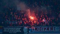 FUSSBALL   CHAMPIONS LEAGUE   SAISON 2013/2014   Vorrunde FC Bayern Muenchen - ZSKA Moskau       17.09.2013 Fans von ZSKA Moskau brennen Pyrotechnik ab
